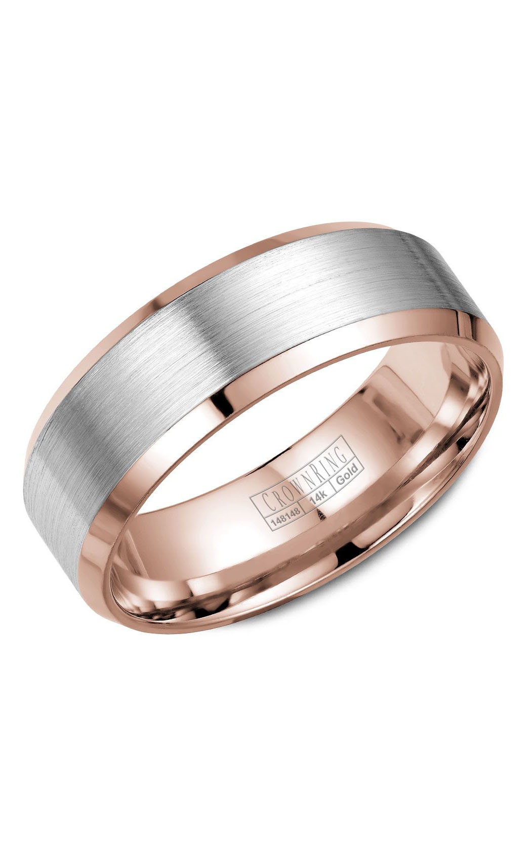 Crown Ring Men's Wedding Band WB-7131WR product image