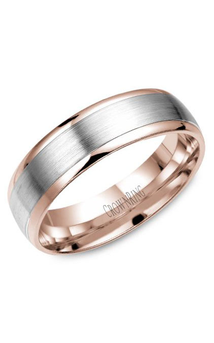 Crown Ring Men's Wedding Band WB-7141WR product image