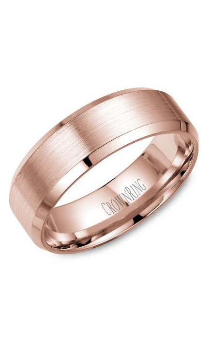 Crown Ring Men's Wedding Band WB-7146R product image