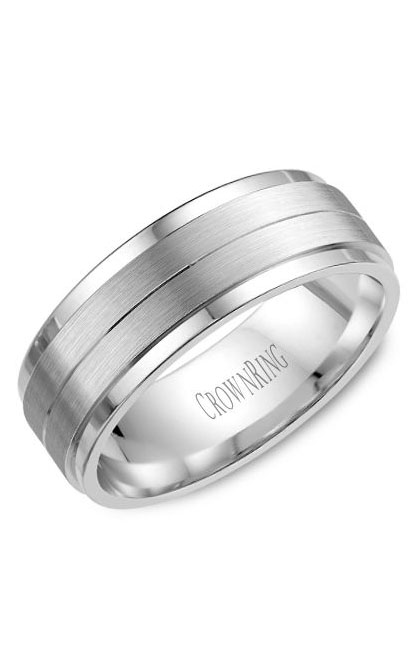 CrownRing Classic and Carved Wedding Band WB-8262SP product image