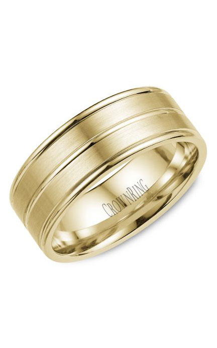 Crown Ring Men's Wedding Band WB-9901Y product image