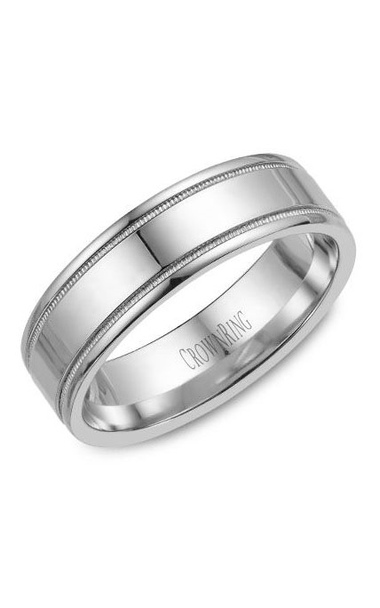 CrownRing Classic and Carved Wedding Band WB-6497 product image