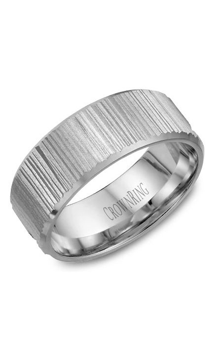 Crown Ring Men's Wedding Band WB-7971 product image