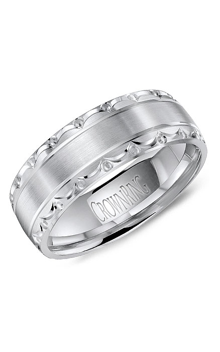 Crown Ring Men's Wedding Band WB-8057 product image