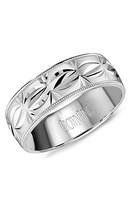 Crown Ring Men's Wedding Band WB-8084 product image