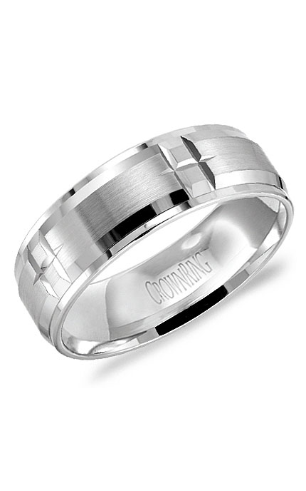 Crown Ring Men's Wedding Band WB-9404 product image