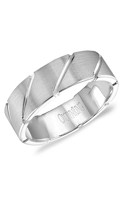 Crown Ring Men's Wedding Band WB-9409 product image
