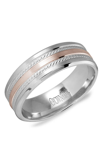 Crown Ring Men's Wedding Band WB-9503RW product image