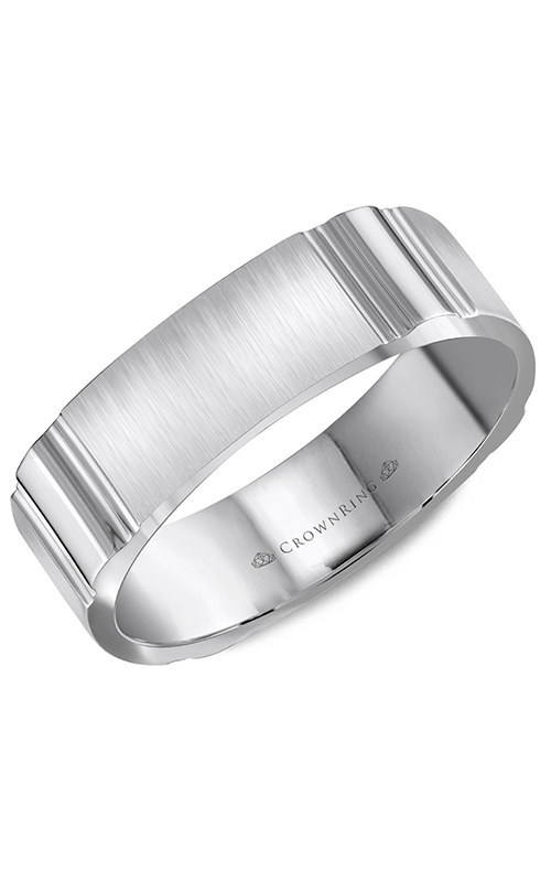 CrownRing Classic and Carved Wedding Band WB-8055 product image