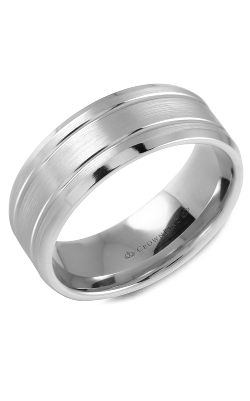 CrownRing Classic and Carved Wedding Band WB-9508 product image