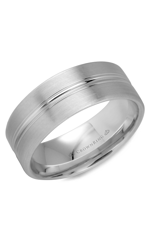 CrownRing Classic and Carved Wedding Band WB-9510 product image