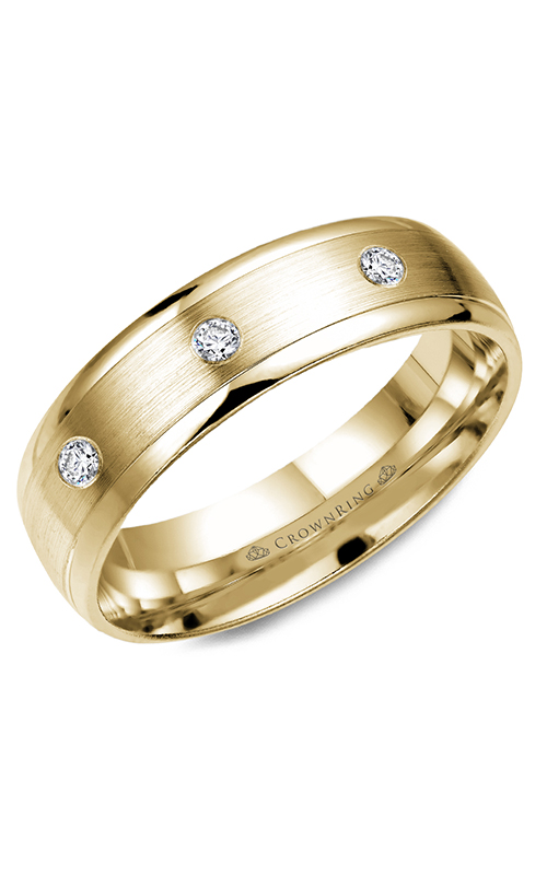CrownRing Diamond wedding band WB-7096Y product image