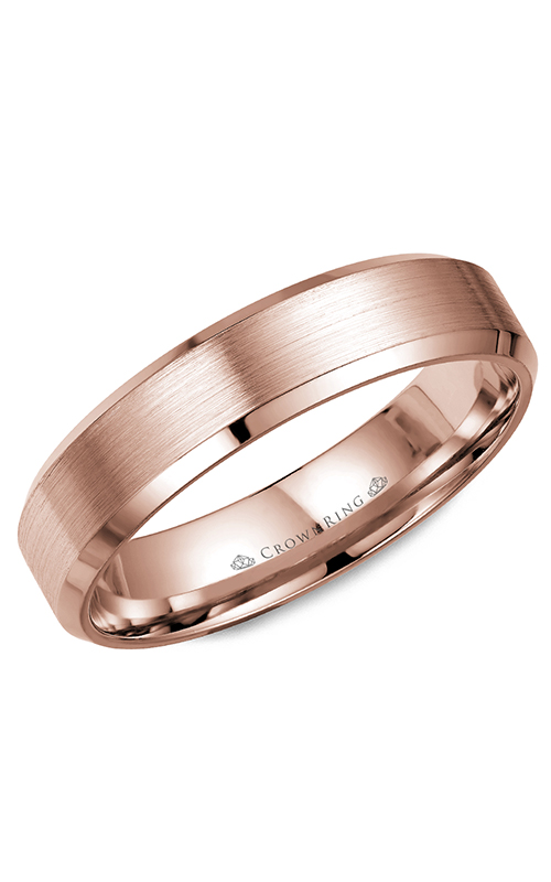 CrownRing Classic and Carved Wedding Band WB-7216R product image