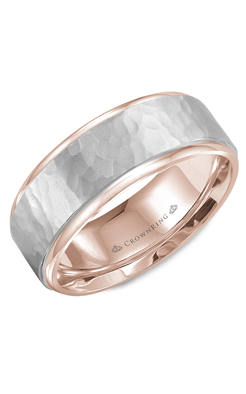 CrownRing Classic and Carved wedding band WB-9300WR product image