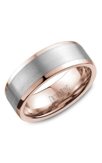 CrownRing Classic and Carved Wedding Band WB-9845WR product image