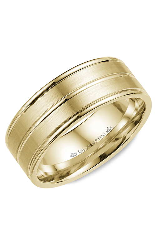 CrownRing Classic and Carved Wedding Band WB-9901Y product image
