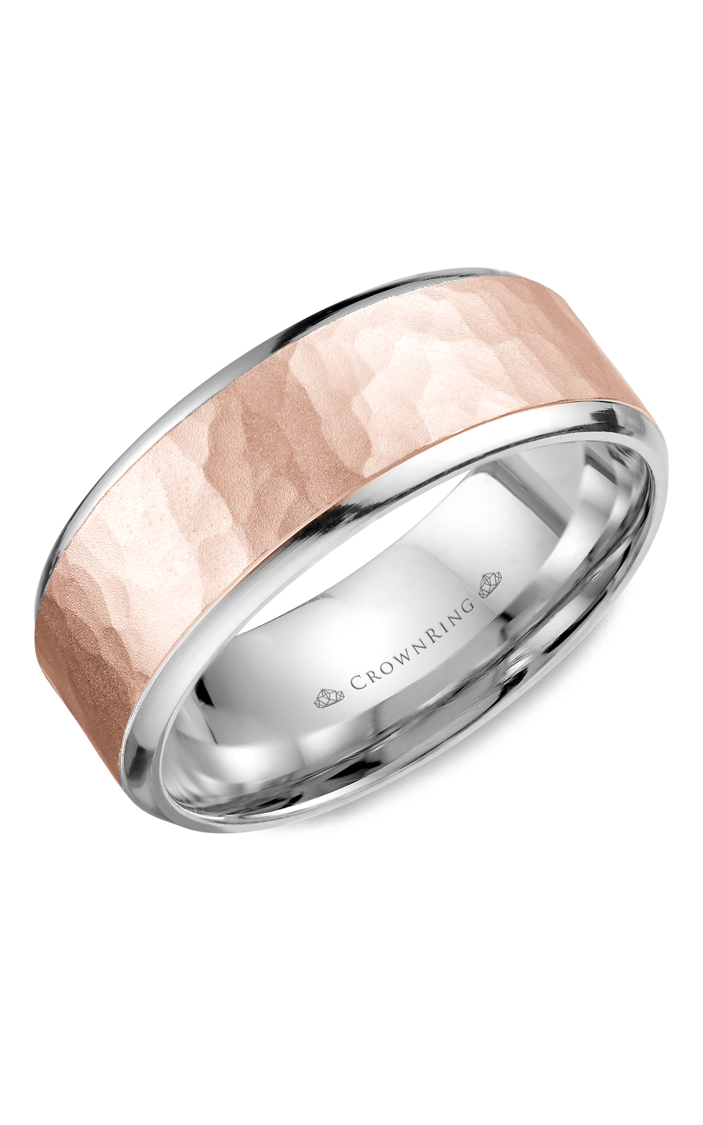 CrownRing Classic and Carved Wedding Band WB-9968RW product image