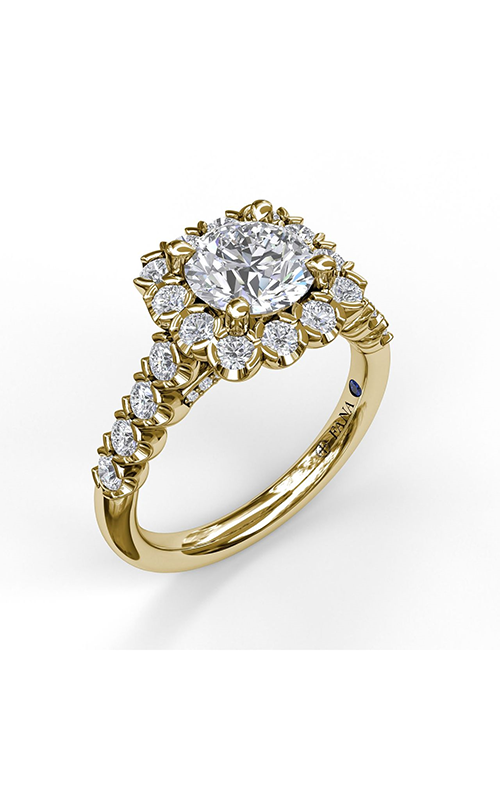 Fana Halo Engagement ring S3589 product image