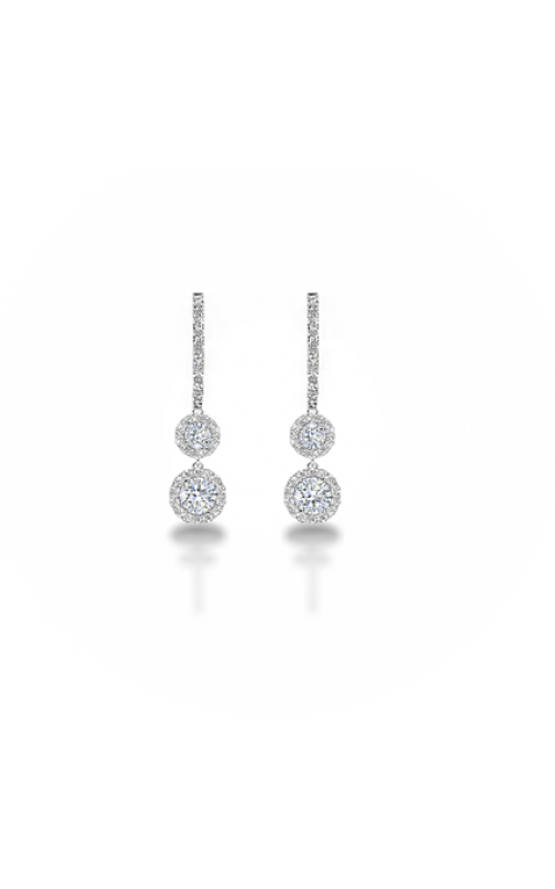 b17efc3dc Forevermark Center Of My Universe™ Halo Two Tier Drop Earrings EFMK011D18K  product image
