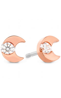 Charmed Half Moon Stud Earrings product image
