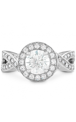 Illustrious Halo Twist Diamond Engagement Ring product image