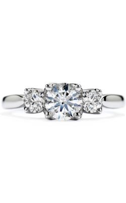 Simply Bridal Leaf Three-Stone Engagement Ring product image