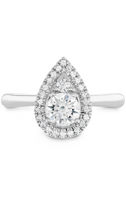 Destiny Teardrop Shape Halo Engagement Ring product image