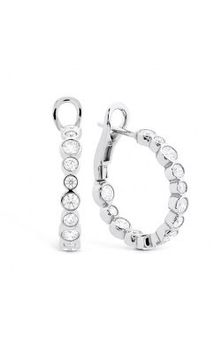HOF Small Bezel Diamond Hoops product image