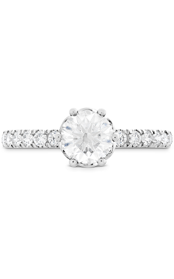 HOF Signature Bezel Basket Engagement Ring - Dia Band . product image