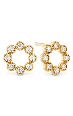 Liliana Milgrain Diamond Circle Earrings product image