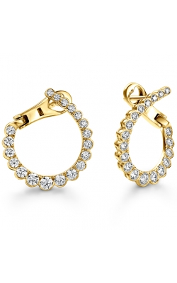 Aerial Regal Diamond Hoops- Small product image