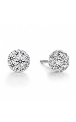 0.34 ctw. Tessa Diamond Circle Earrings in 18K White Gold product image