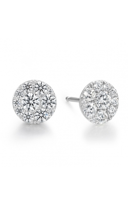 1.02 ctw. Tessa Diamond Circle Earrings in 18K White Gold product image