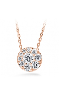 1.02 Ctw. Tessa Diamond Circle Pendant In 18K Rose Gold product image