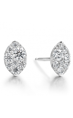 0.34 ctw. Tessa Navette Earrings in 18K White Gold product image