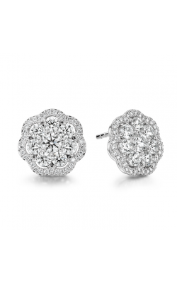 2.42 ctw. Aurora Cluster Earrings in 18K White Gold product image