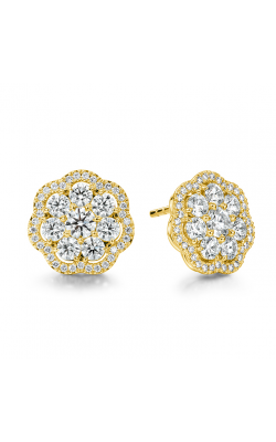 2.42 ctw. Aurora Cluster Earrings in 18K Yellow Gold product image