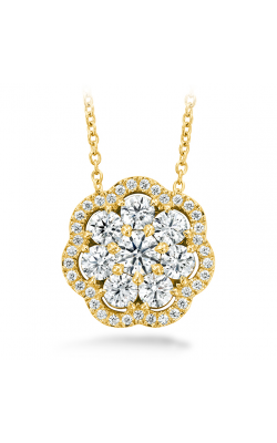 1.45 ctw. Aurora Cluster Pendant in 18K Yellow Gold product image