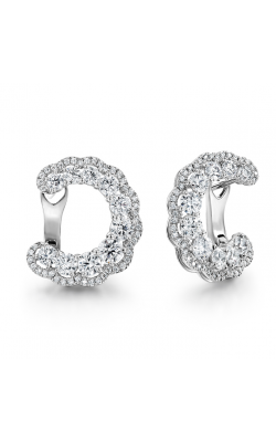 3.35 ctw. Aurora Hoop Earrings in 18K White Gold product image