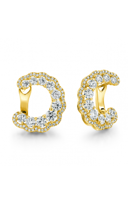 3.35 ctw. Aurora Hoop Earrings in 18K Yellow Gold product image