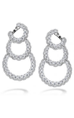 13.84 ctw. Aurora Triple Tier Hoop Earrings in Platinum product image