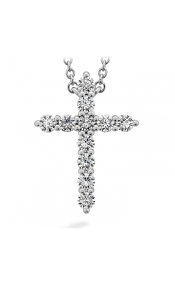 Signature Cross Pendant - Large in 18K White Gold Necklace HFPSIGCR00508W product image