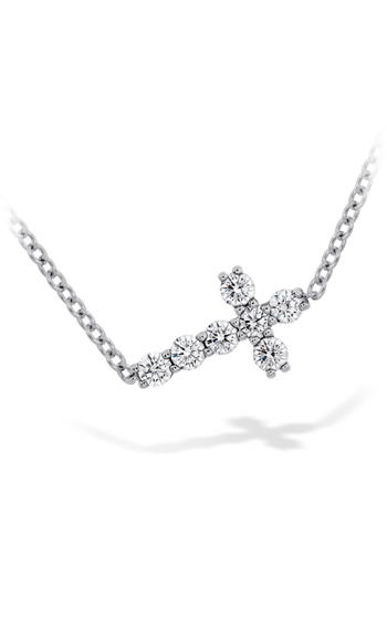 Charmed Horizontal Diamond Cross Necklace product image