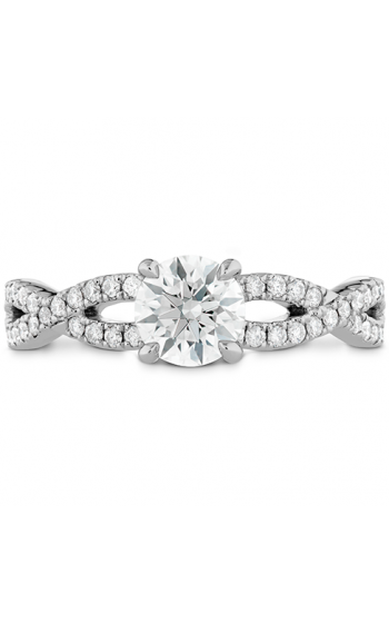 Destiny Twist Engagement Ring - Diamond Band product image