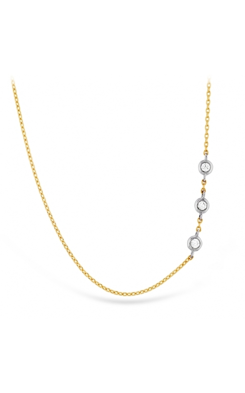 HOF Signature Off-Set Triple Bezel Necklace product image