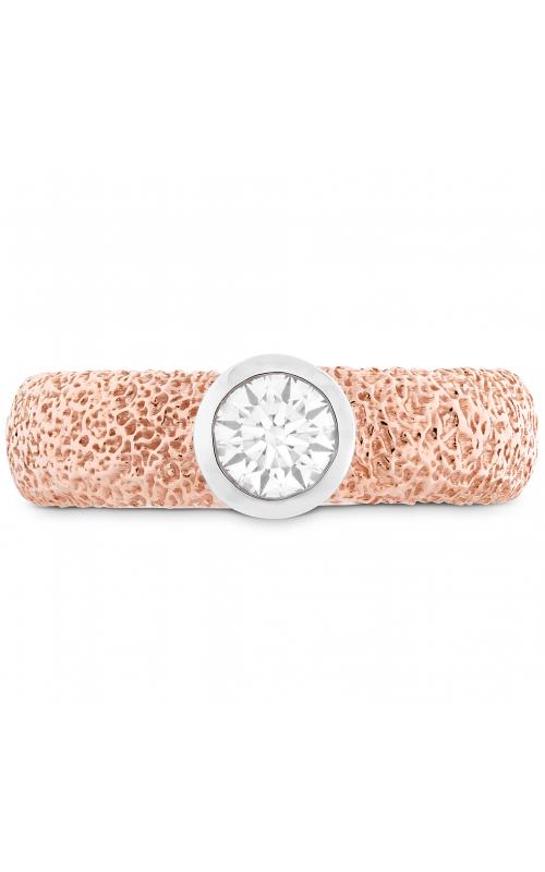 Distinguished Single Bezel Diamond Ring Textured product image