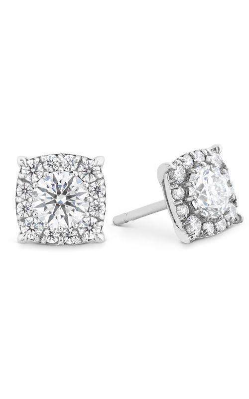 HOF Custom Halo Diamond Stud Earrings product image