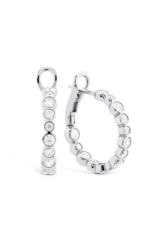 HOF Large Bezel Diamond Hoops product image