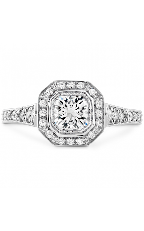Deco Chic DRM Halo Engagement Ring HBRDECDH0085PLA-C product image