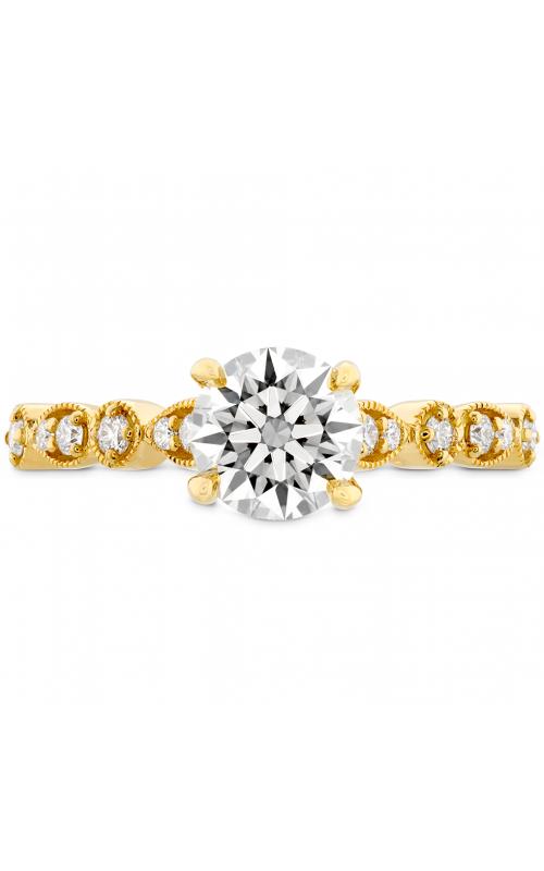 Isabelle Teardrop Milgrain Engagement Ring HBRISATRM00708RA-N product image